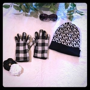 Michael Kors matching beanie and gloves.